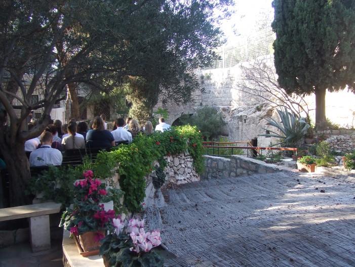 Celebrating in the Garden Tomb