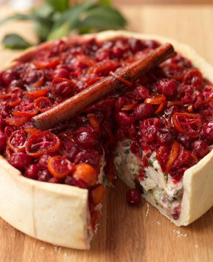 Recipe: Cold Turkey &Ham Pie with Cranberry topping