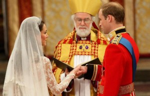 Rowan Williams and the Duke and Duchess of Cambridge