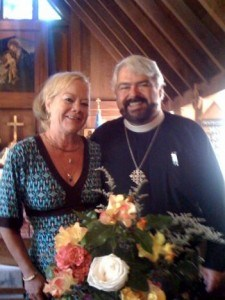 Rector Father Robert and wife Candace of St. Columba, Inverness, California--near San Francisco--retreat and Anglo-Catholic Parish