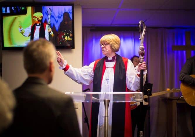 Bishop joins church's celebration